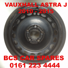 "VAUXHALL  ASTRA  J  STEEL  WHEEL  IDEAL SPARE    FULL SIZE  16""   ( DIESEL CAR ONLY )     2010 - 2015  USED"